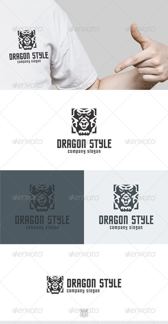 Dragon Style Logo - Animals Logo Templates