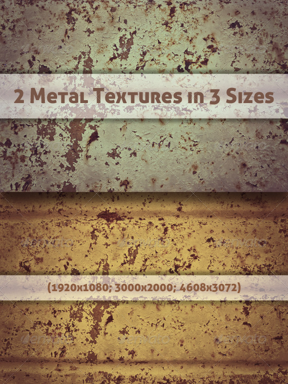 GraphicRiver 2 Metal Textures in 3 Sizes 5833234