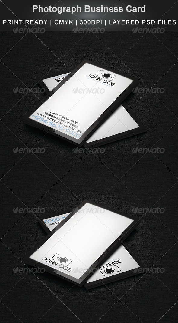 GraphicRiver Photograph Business Card 5833287