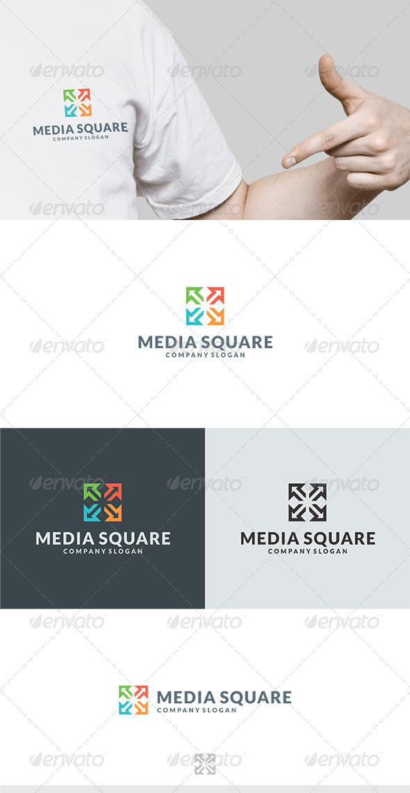 GraphicRiver Media Square II Logo 5833314
