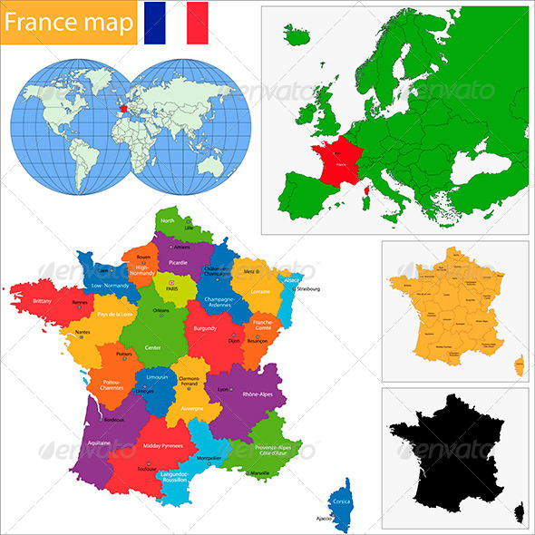 GraphicRiver France Map 5828566