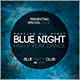 Blue Night Flyer - GraphicRiver Item for Sale