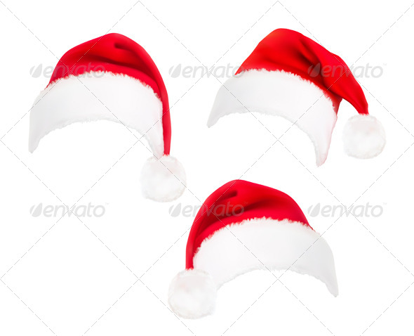 GraphicRiver Red Santa Hats 5833744