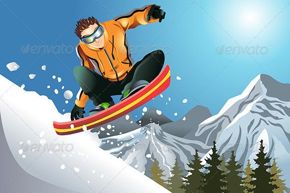 GraphicRiver Snowboarder 5834204