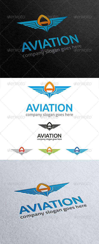 GraphicRiver Aviation Letter A Logo 5835332