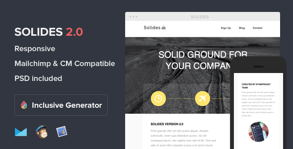 Solides - Responsive Email With Template Builder - Newsletters Email Templates