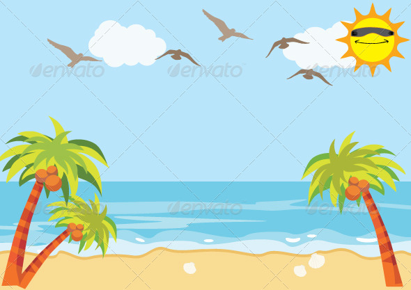GraphicRiver Sea Sand Beach Background 5836242