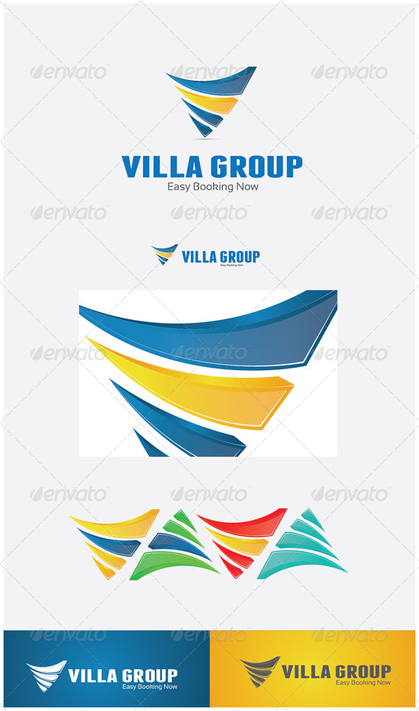 GraphicRiver Villa Group 3D 5837086