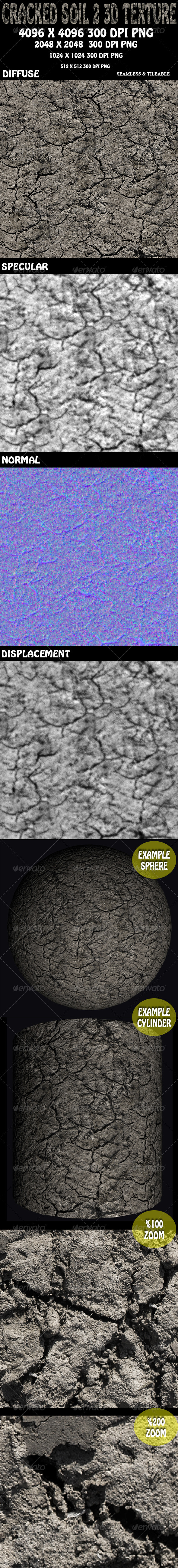 3DOcean Cracked Soil 2 3D Texture 5837112