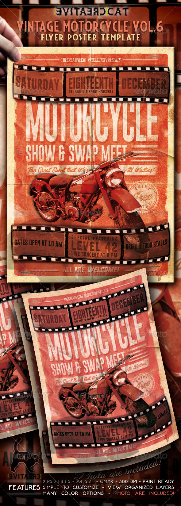 GraphicRiver Vintage Motorcycle Flyer Poster Vol 6 5837407
