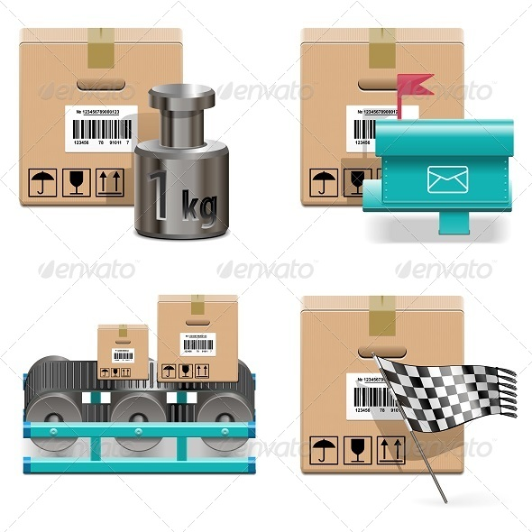 GraphicRiver Vector Shipment Icons Set 17 5837435