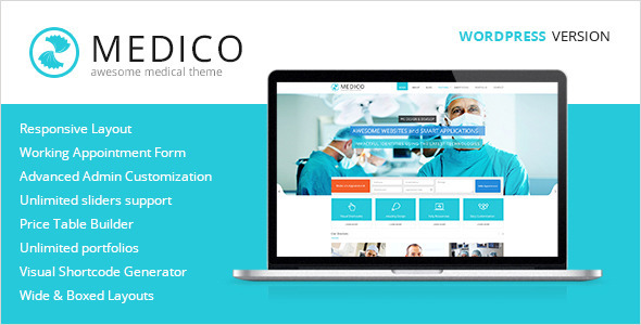 ThemeForest Medico Medical & Health WordPress Theme 5819763