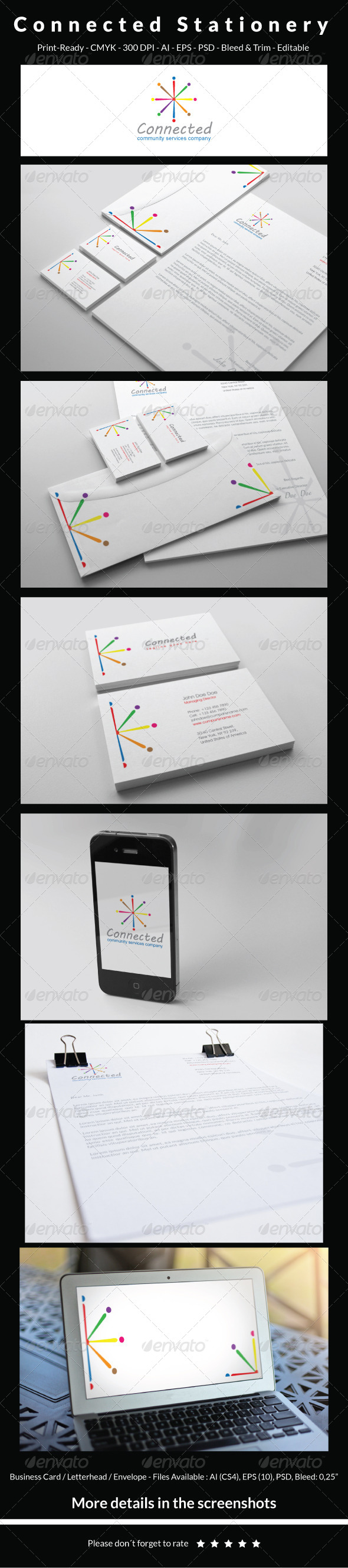 GraphicRiver Connected Stationery 5837945