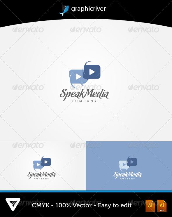 GraphicRiver Speak Media Logo 5838107