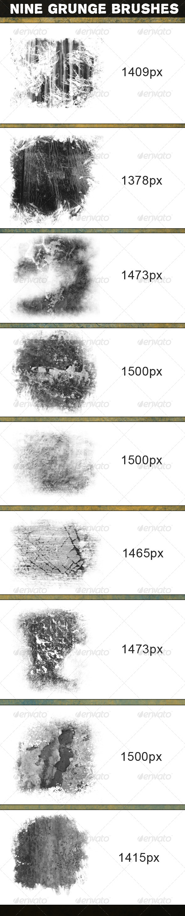 GraphicRiver Nine Grunge Brushes 5838618