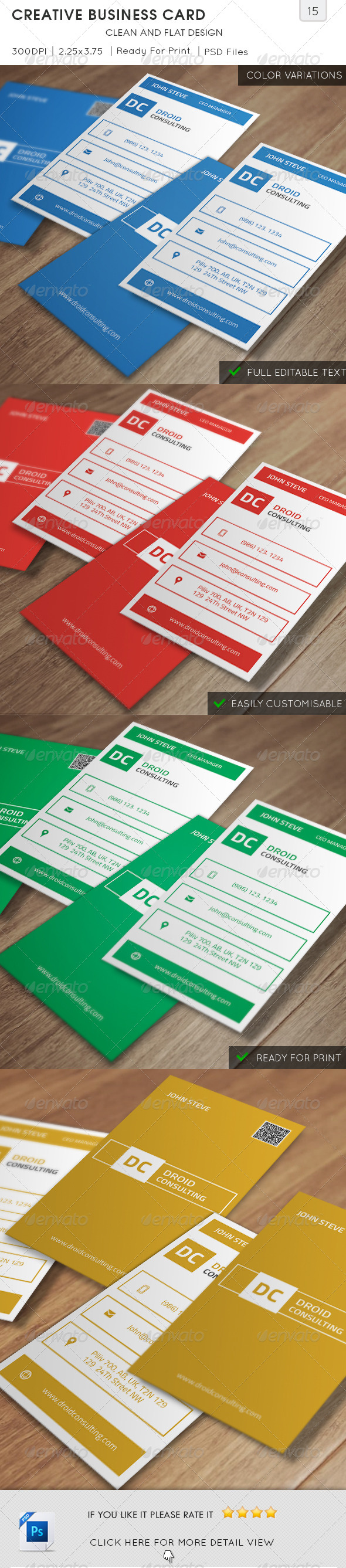 GraphicRiver Creative Business Card v15 5838631