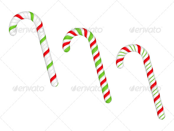 GraphicRiver Candy Canes 5838868