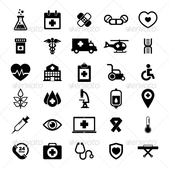 GraphicRiver Medical Icon Set 5839938