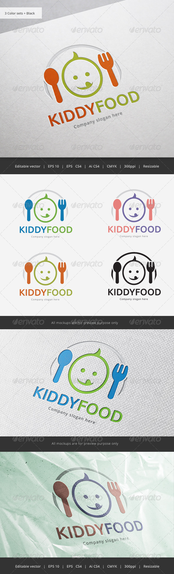 GraphicRiver Kid Food Logo 5840357