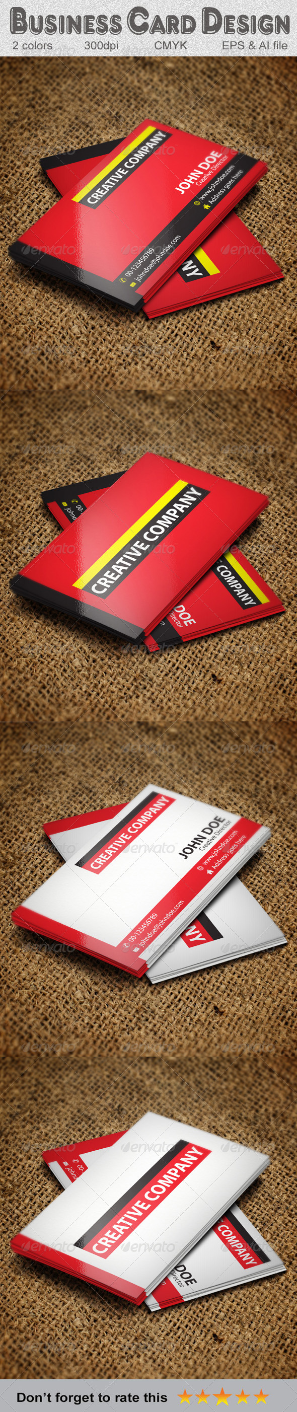 GraphicRiver Simple Business Card Design-2 5840781