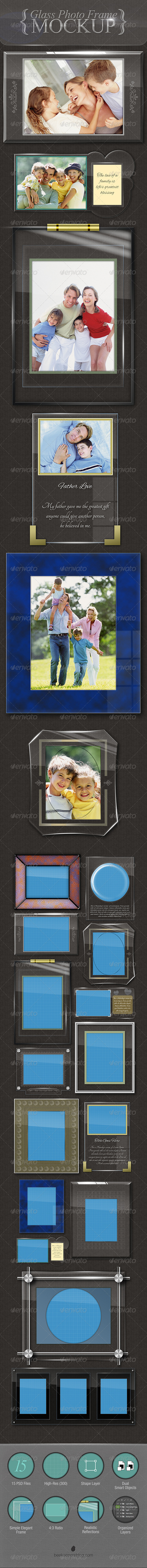 GraphicRiver Glass Photo Frames Mockup 5840826