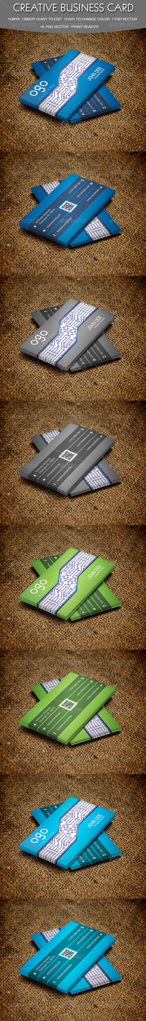 GraphicRiver Business Card for Engineers 5748606