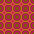 Vibrant warm color circles seamless abstract pattern. - PhotoDune Item for Sale