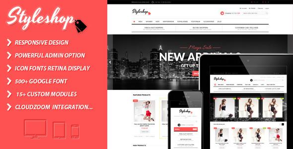 ThemeForest Styleshop Premium & Responsive Prestashop Theme 5841714