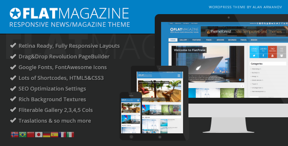 FlatMagazine - Responsive News/Magazine Theme - News / Editorial Blog / Magazine