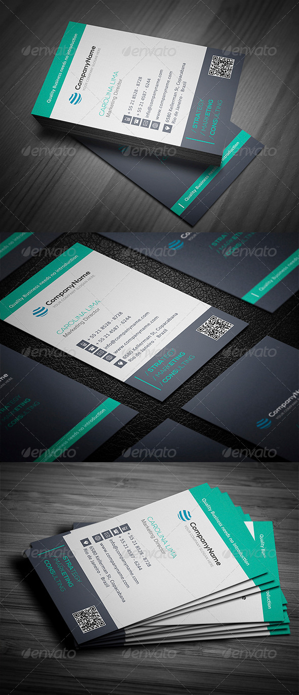 Corporate Business Card 004 - Corporate Business Cards