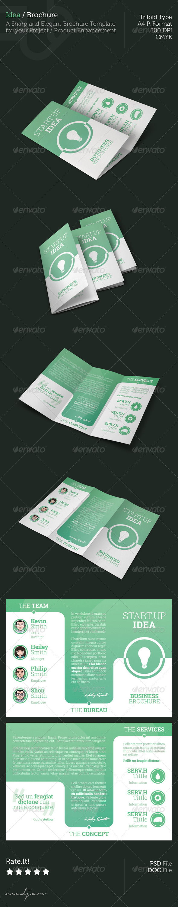 Idea - Trifold Brochure - Corporate Brochures