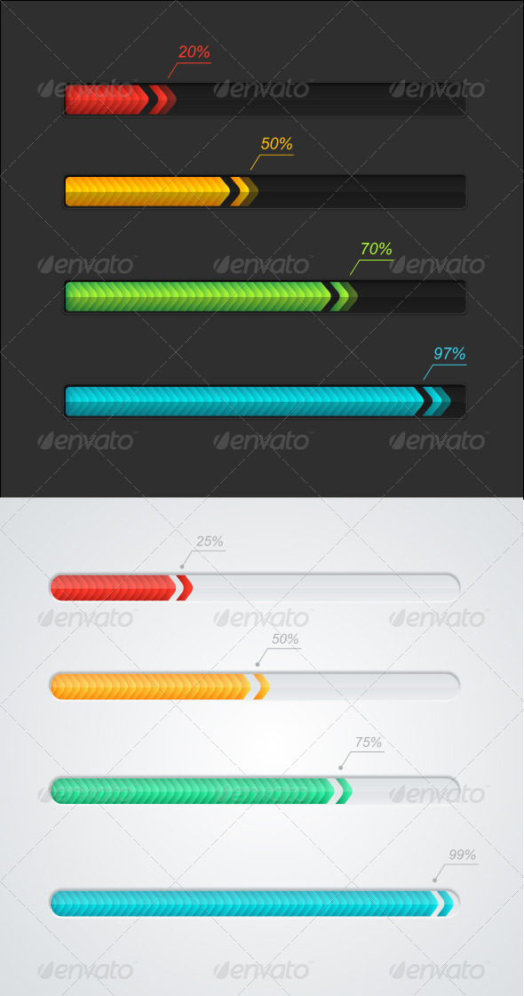 GraphicRiver Progress Loading Bars 5842573