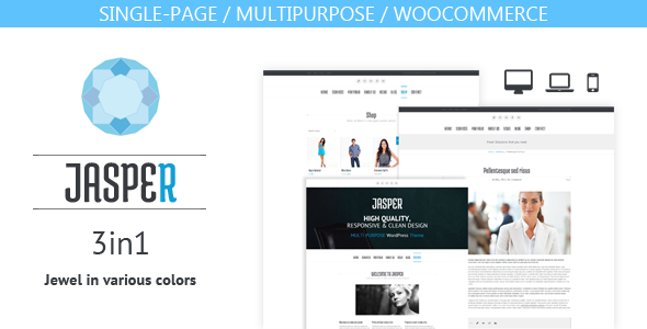 Jasper - 3 in 1 theme (one-page/multipurpose/shop) - Business Corporate