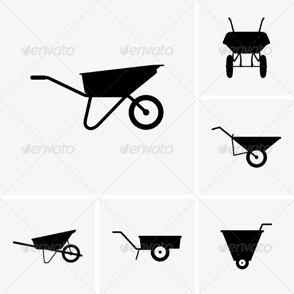 GraphicRiver Wheelbarrow Carts 5843663