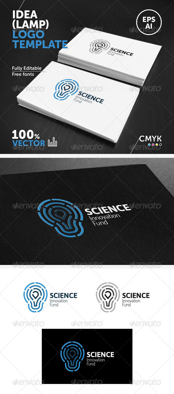 GraphicRiver Idea lamp Logo Template 5843664