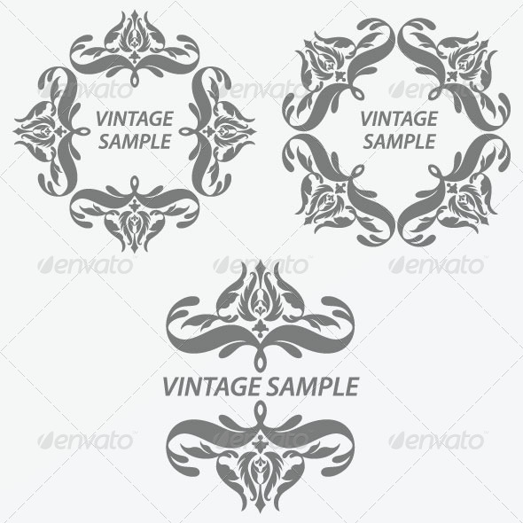GraphicRiver Vintage Design Elements 26 5844054