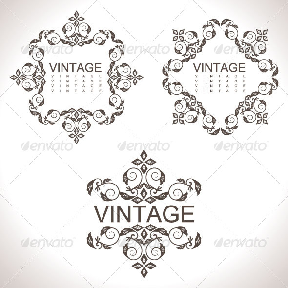 GraphicRiver Vintage Design Elements 29 5844065