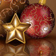 Christmas Decorations on Chocolate Background - GraphicRiver Item for Sale