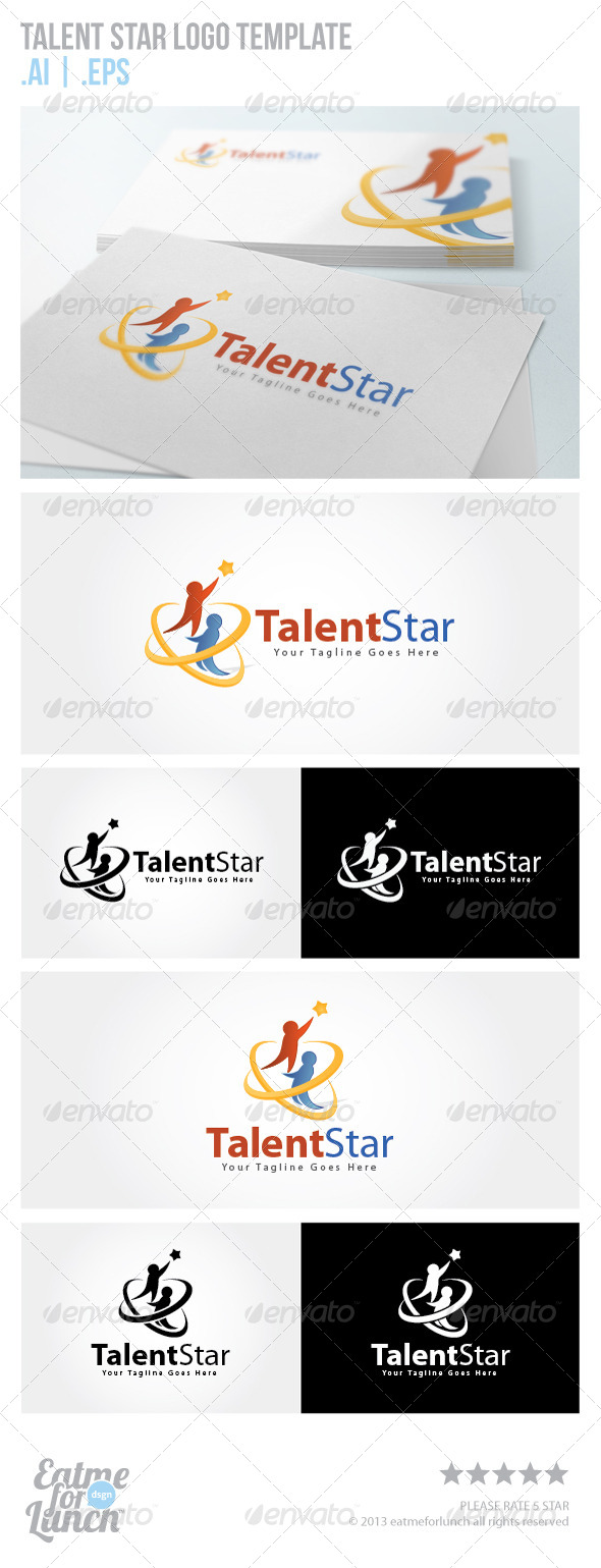 GraphicRiver Talent Star Logo Template 5847100