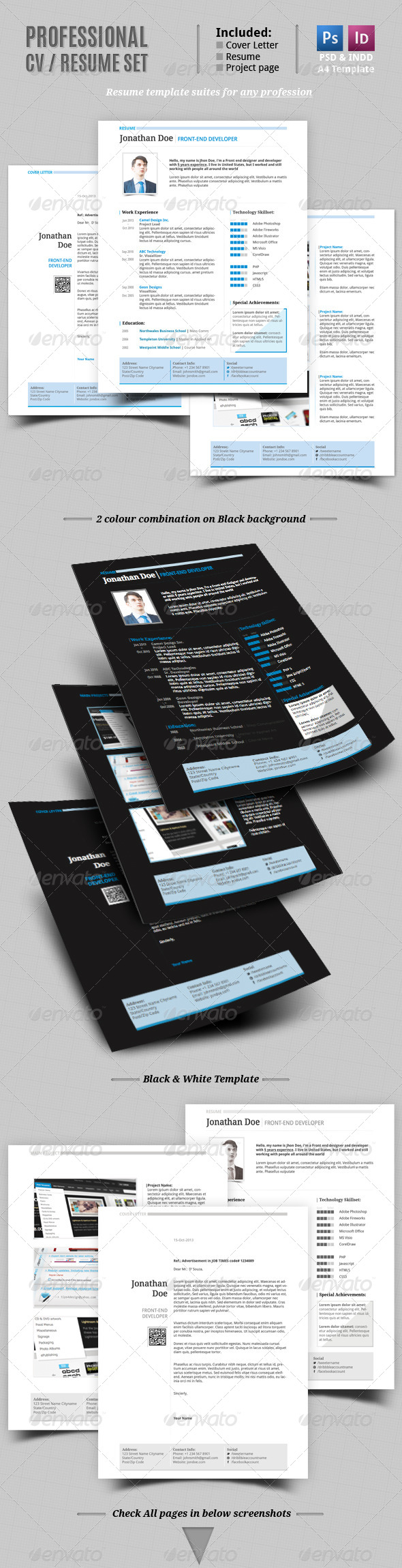 GraphicRiver Simple CV Resume Template 5847101