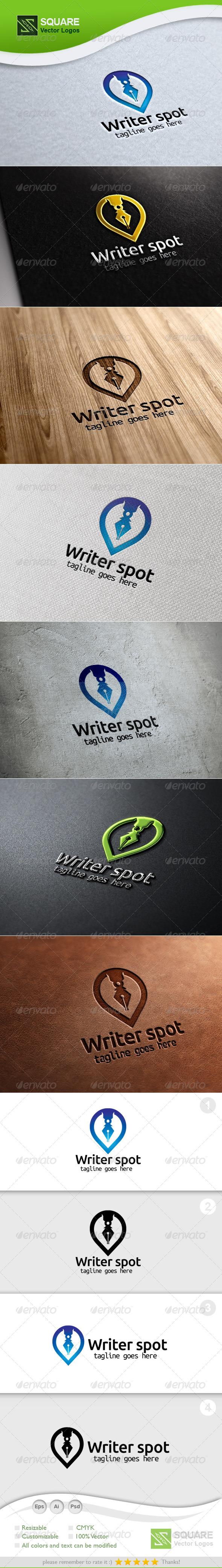 GraphicRiver Pen Locator Vector Logo Template 5847468