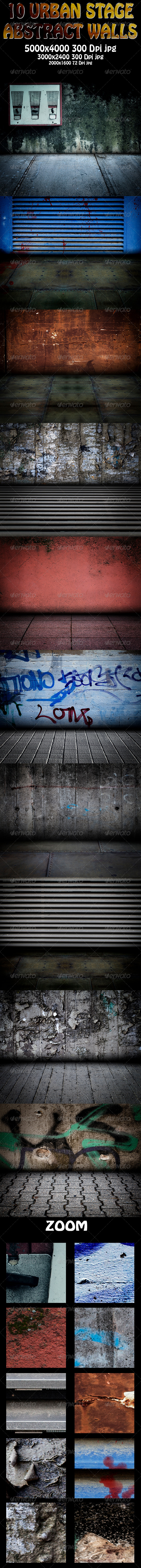 GraphicRiver 10 Urban Stage Abstract Walls 5848862