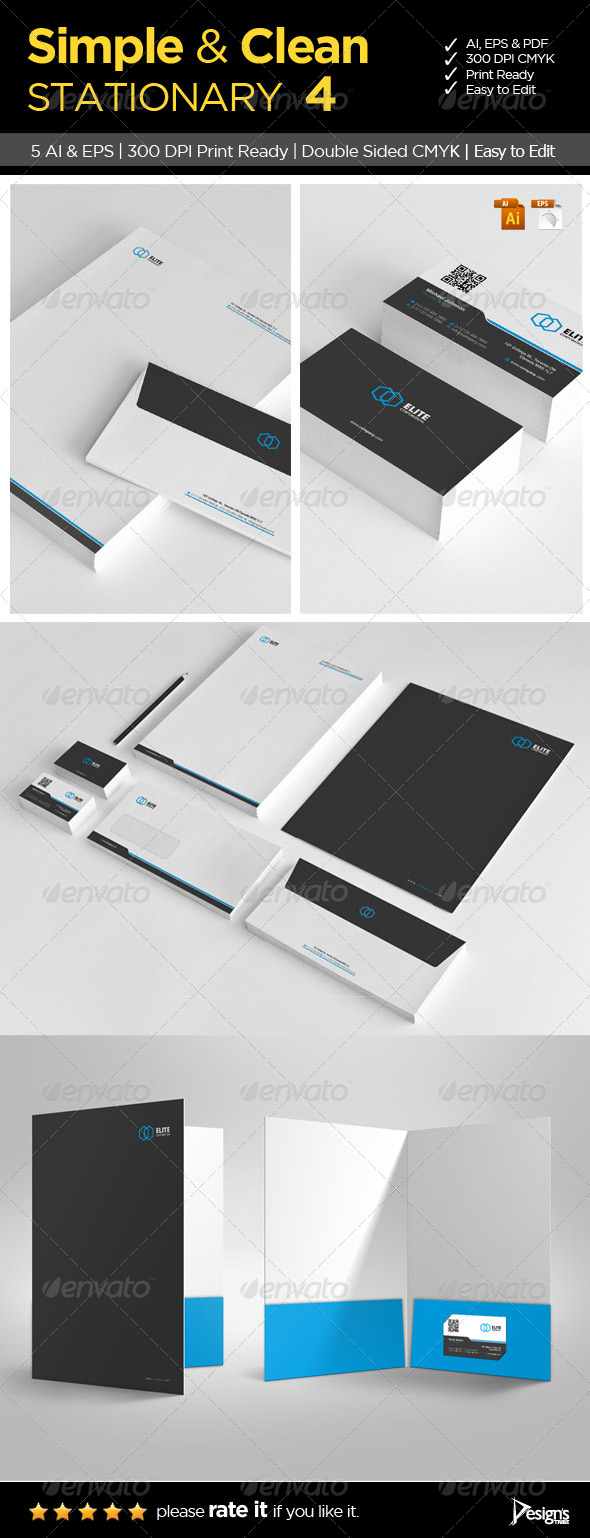 Simple and Clean Stationary 4 - Stationery Print Templates