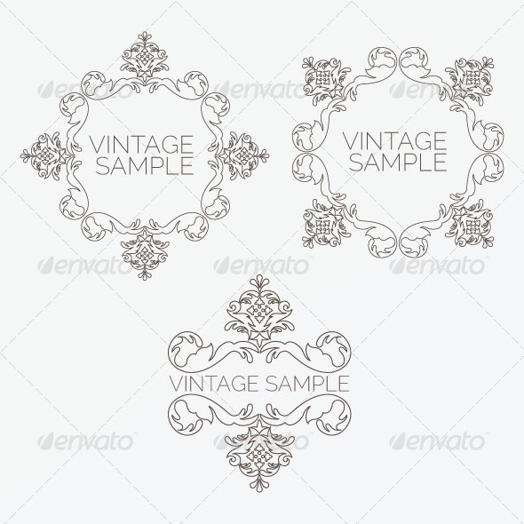 GraphicRiver Vintage Design Elements 23 5849897