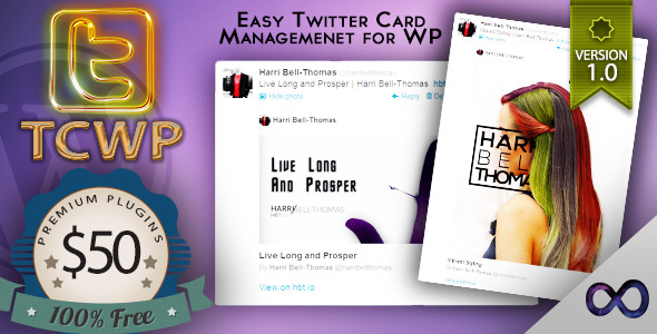 CodeCanyon TCWP Supercharged Twitter Card Management for WP 5850316