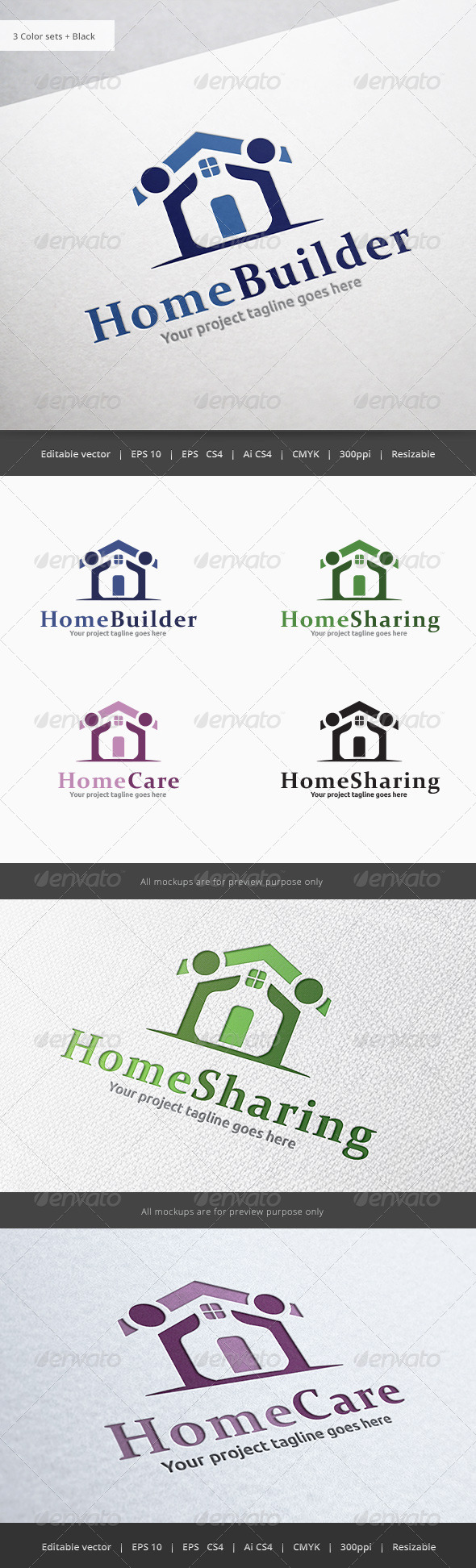 GraphicRiver Home People Logo 5851411