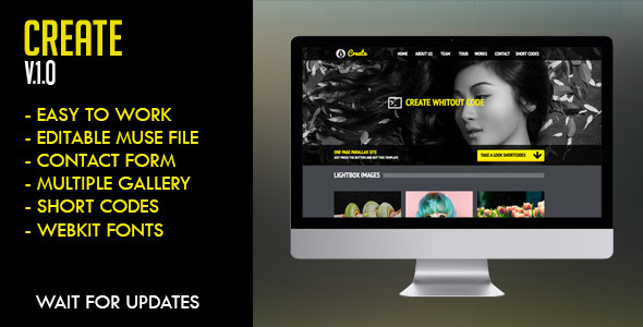 Create Muse Template