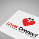 Lover Connect Logo Template - GraphicRiver Item for Sale