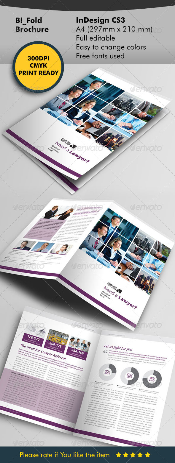 Lawyer Bifold Brochure - Corporate Brochures
