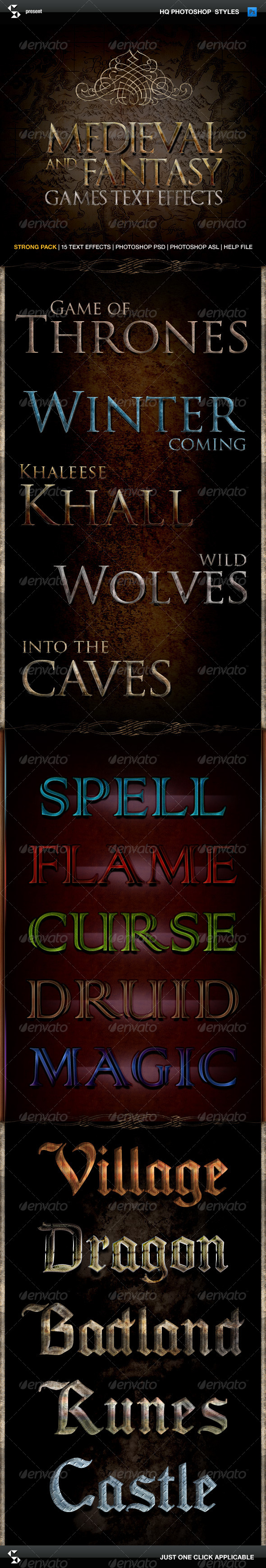 GraphicRiver Medieval and Fantasy Games Text Effects 5852987